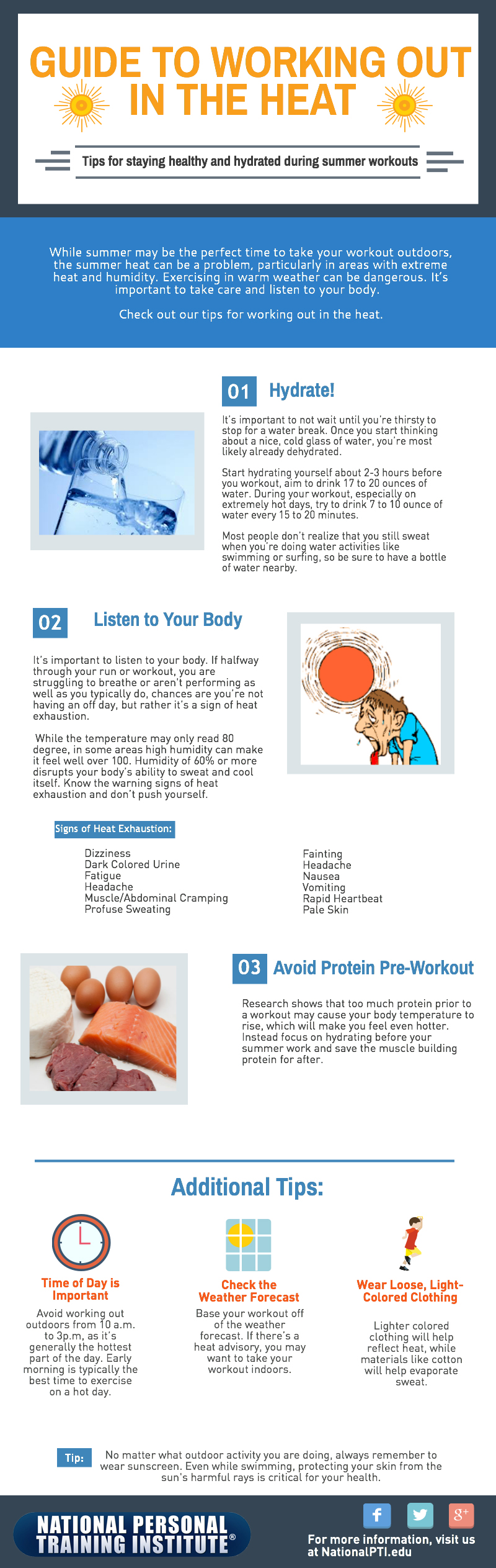 Working out in the heat tips- NPTI Fitness