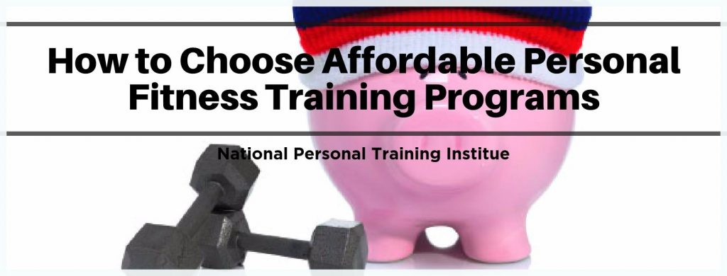 How to Choose an Affordable Fitness Training Program- NPTI Fitness